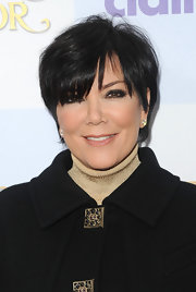 Kris Jenner wore her shiny short crop with long tousled bangs at the premiere of 'Mirror Mirror.'