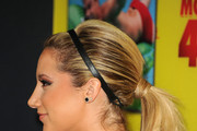 Actress Ashley Tisdale (hair detail) attends the premiere of Relativity Media's
