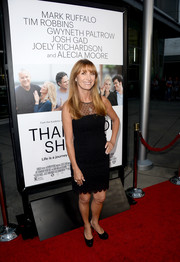Jane Seymour looked darling at the 'Thanks for Sharing' premiere in a sheer-panel LBD with a scalloped hem.