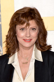 Susan Sarandon sported feathery waves and side-swept bangs at the premiere of 'A Bad Moms Christmas.'