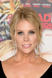 Cheryl Hines attended the premiere of 'A Bad Moms Christmas' wearing her hair in a messy updo.