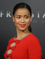 Gugu Mbatha-Raw attended the premiere of 'Free State of Jones' wearing a pair of sparkling stud earrings.