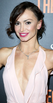 Karina Smirnoff attended the premiere of 'Secret in Their Eyes' rocking a messy-glam updo.