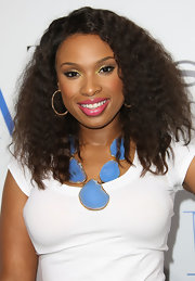 Jennifer Hudson wore a pop of bright bubblegum pink lipstick at the premiere of 'Think Like a Man.'