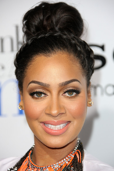 More Pics of La La Anthony Braided Updo (1 of 5) - La La Anthony Lookbook - StyleBistro