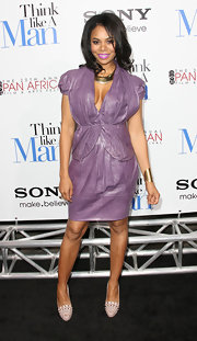 Regina Hall was in a purple mood for the 'Think Like a Man' premiere.