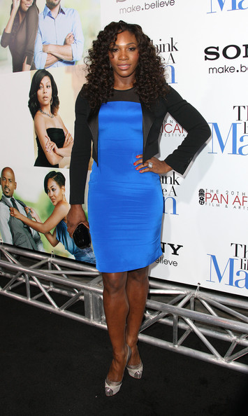 Serena topped off her ensemble with silver cap-toe platform pumps.