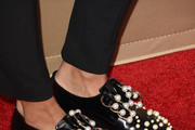 Kat Graham Leather Slip On Shoes