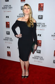 Lily looked saucy in her shoulder-baring LBD at the premiere of 'American Horror Story: Asylum' in Hollywood.