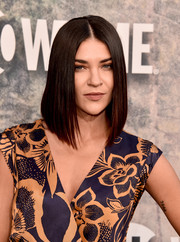 Jessica Szohr gave us hair envy when she wore this sleek graduated lob at the premiere of 'Twin Peaks.'