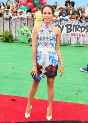 Dania Ramirez looked dynamite in a mixed-print mini dress by Vone Collection at the 'Angry Birds' premiere.
