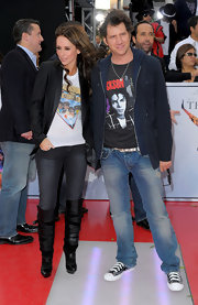 Jamie Kennedy paid homage to Michael Jackson by donning a T-shirt with Jackson's face emblazoned on it for the premier of 'This is It.'