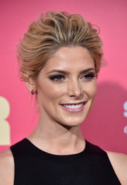 Ashley Greene opted for a sophisticated loose bun when she attended the premiere of 'Baby Driver.'