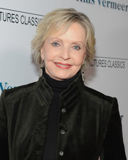 Florence Henderson wore her hair in a layered razor cut at the premiere of 'Tim's Vermeer.'