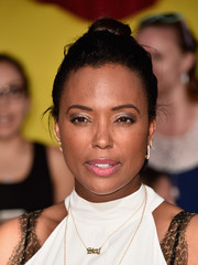 Aisha Tyler pulled her hair up in a classic bun for the premiere of 'Sausage Party.'
