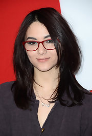 Fivel Stewart wore a gold chain necklace with an infinity sign pendant at the premiere of 'Warm Bodies.'