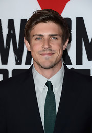 """Actor Chris Lowell rocked an emerald green tie at the """"Warm Bodies"""" LA premiere."""