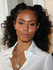 Jada Pinkett Smith styled her springy spiral curls in two French braids for the premiere of 'First Position.'