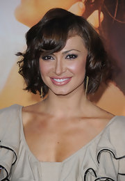"Karina flaunted her short curled bob at ""The Last Song"" premiere. It's a great length for the petite dancer."