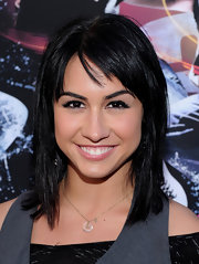 Lauren Gottlieb showed off her shoulder length haircut while hitting the premiere of 'Step Up 3D'.