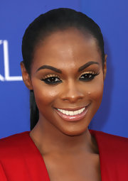 Tika Sumpter swept her hair back in a sleek ponytail for the premiere of 'Sparkle.'