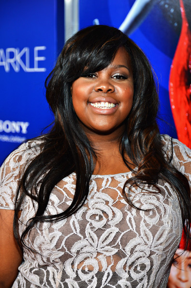 More Pics of Amber Riley Long Wavy Cut with Bangs (1 of 2) - Amber Riley Lookbook - StyleBistro