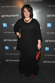 Betty Kaye wore this delicately ruffled maxi-dress to the Tribeca Film event.