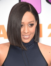 Tia Mowry sported a flawlessly sleek asymmetrical bob at the premiere of 'Home.'