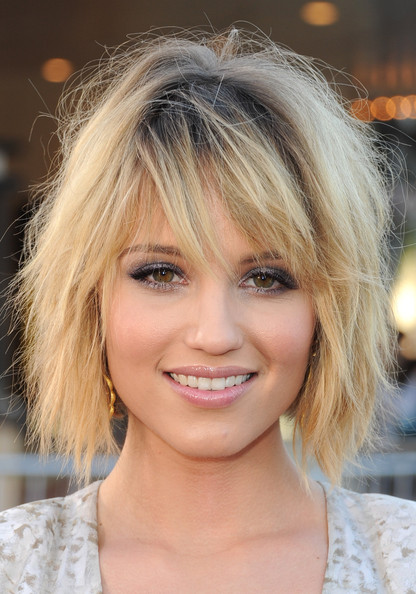 More Pics of Dianna Agron Bob (1 of 17) - Short Hairstyles Lookbook - StyleBistro