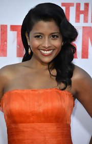 Tiya Sircar rocked stunning retro waves at the premiere of 'The Internship' in California.
