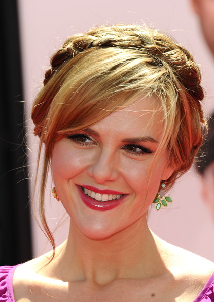 More Pics of Sara Rue Braided Updo (1 of 8) - Updos Lookbook - StyleBistro