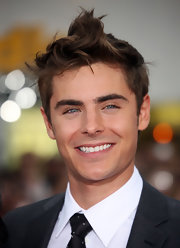 Zac Efron showed off his signature messy cut while attending the premiere of 'Charlie St. Cloud'.