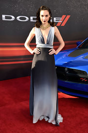 Gal wore this ombre gray dress to the premiere of 'Fast and Furious 6.'