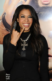 Kali Hawk showed off her decorative ring while on the red carpet.