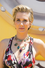Kristen Wiig sported a messy-chic pompadour at the premiere of 'Despicable Me 3.'