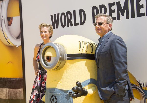 More Pics of Kristen Wiig Messy Cut (4 of 13) - Short Hairstyles Lookbook - StyleBistro [despicable me 3,yellow,personal protective equipment,costume,arrivals,actors,steve carell,kristen wiig,illumination entertainment,universal pictures,l,premiere,premiere]