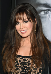 Marie Osmond sported barely-there waves and wispy bangs at the premiere of 'Jason Bourne.'