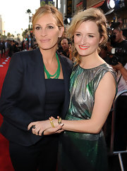 Grace Gummer, otherwise known as Meryl Streep's gorgeous daughter, wore gold Wheaton and Waverly cuff bracelets to the Los Angeles premiere of 'Larry Crowne.'