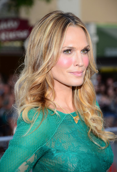 Molly Sims stuck to her signature center-parted waves when she attended the premiere of 'A Million Ways to Die in the West.'