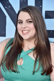 Beanie Feldstein sported a long straight cut at the premiere of 'Neighbors 2: Sorority Rising.'