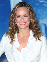 Melora Hardin looked sassy with her corkscrew curls at the premiere of 'Frozen.'