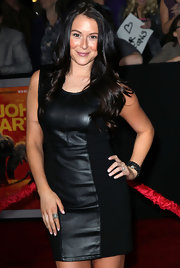 Alexa Vega arrived at the LA premiere of 'John Carter' wearing a matte black onyx pave diamond nugget wrap stretch bracelet and a pave diamond cuff ring.