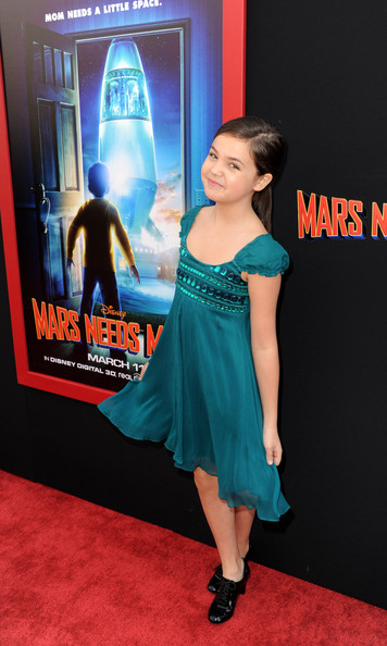 More Pics of Bailee Madison Baby Doll Dress (1 of 3) - Baby Doll Dress Lookbook - StyleBistro [mars needs moms,carpet,clothing,premiere,dress,cocktail dress,flooring,electric blue,red carpet,red carpet,bailee madison,california,los angeles,el capitan theater,walt disney pictures,premiere,premiere]