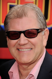 Robert Zemeckis showed off a cool pair of rectangle shades at the premiere of 'Mars Needs Moms.'