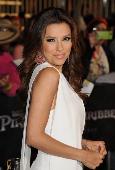 More Pics of Eva Longoria Dangling Gemstone Earrings (1 of 22) - Dangling Gemstone Earrings Lookbook - StyleBistro