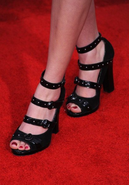 Gage Golightly was all buckled up in these beauties.