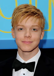 Cameron Monaghan looked dapper wearing a bowtie to the 'Prom' premiere.
