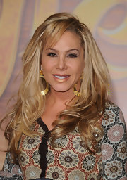Adrienne Maloof styled her hair in a high-volume wavy 'do with bangs for the premiere of 'Tangled.'