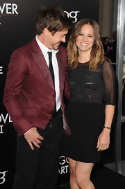 Susan Downey went for a modern look with this mesh-panel LBD at the premiere of 'The Hangover Part II.'