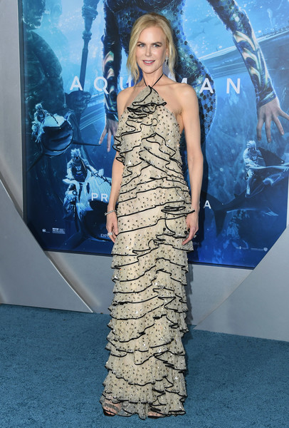 Nicole Kidman went all out with the ruffles at the premiere of 'Aquaman.'